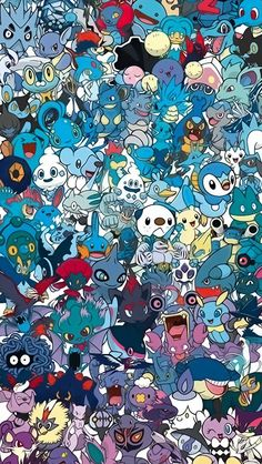 Awesome Pokemon Collection Wallpaper (6). Tap for more Pokemon Pattern Wallpapers for iPhone 5/5s. iPhone 6/6 Plus. - @mobile9 #pattern #backgrounds #pokemon
