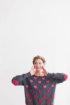 Ravelry: Sweater Makeover pattern by Meredith Crawford #crochet #heart #onesheepishgirl
