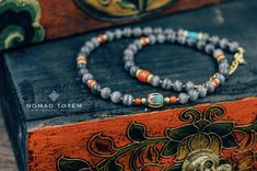 Tibetan Gray Agate Necklace wrist Bracelet by NomadTotem on Etsy https://www.etsy.com/hk-en/listing/582259383/tibetan-gray-agate-necklace-wrist