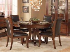 "Homelegance Avalon 5 Piece 54"" Round Pedestal Cherry Dining Table Set Homelegance http://www.amazon.com/dp/B00AI1RUFE/ref=cm_sw_r_pi_dp_Es--tb1HBFB96"