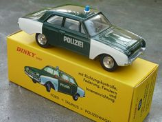 Ford Taunus Polizei (Atlas Editions) 1:43 scale diecast. Original was made in France for German market export only / Fabrication française destinée à l'export vers l'Allemagne.