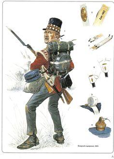 Highland Light Infantryman, knapsack equipment, 1815.