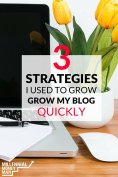 Here are some great tips on how to grow your blog or website! Millennial Money Man used these strategies to grow his blog into a successful income producer and his full-time job! via @genymoneyman