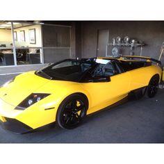 Lamborghini and YELLOW<3 My dream...