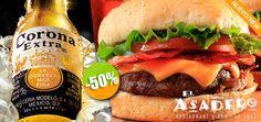 El Asadero Restaurant & Bar en La Cruz de Huanacaxtle - $120 en lugar de $240 por 2 Hamburguesas con Tocino y Papas + 2 Cervezas Nacionales ó 2 Refrescos