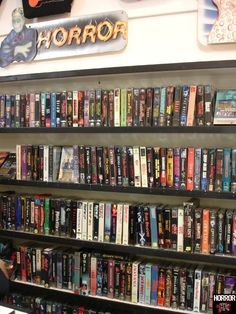 Video store Horror section