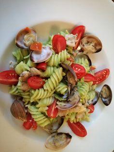 #immychef Fusilli con crema di broccoli, vongole veraci e pomodori datterini
