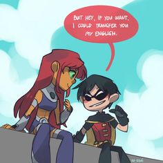 starfire and young justice robin