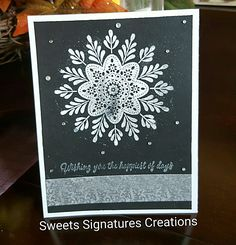 Stampin' Up! Christmas Paper Crafts, Stampin Up Christmas, Christmas 2016, Snowflake Cards, Christmas Snowflakes, Holiday Cards, Christmas Cards, Gilding Wax, Birthday Thank You Cards