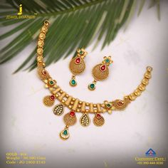 of antique get in touch with us on 919904443030 Dubai Gold Jewelry, Aztec Jewelry, Silver Jewellery Indian, Gold Jewellery Design, Designer Jewelry, Gold Necklace Simple, Necklace Set, Gold Necklaces, Gold Bangles