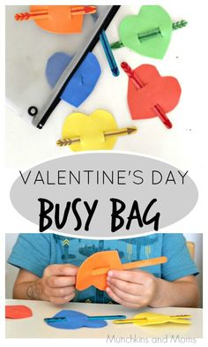 Valentine's Day Busy Bag- perfect for toddlers and preschoolers!