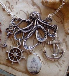 DIY your photo charms, 100% compatible with Pandora bracelets. Make your gifts special. Make your life special! Octopus charm necklace