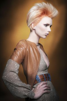 An edgy short cut and color.  By Pivot Point International