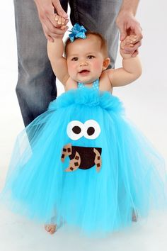 Cookie+Monster+Inspired+Tutu+Dress+Costume+for+dress+by+shoppe3130,+$35.00