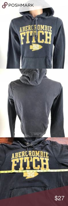 Abercrombie & Fitch Men's Comfy Hooded Sweatshirt This is a nice and comfortable Style: Men's ABERCROMBIE & FITCH Hoodie Gray Yellow Sweatshirt, Size L   Brand:  ABERCROMBIE & FITCH Style: Men's ABERCROMBIE & FITCH Black/Yellow Hooded Sweatshirt Color: Gray/Yellow Size: L Measurements: Please see photos Material: 70% Cotton, 30% Polyester Condition: Excellent, gently used pre-owned condition with minimal signs of wear as seen in images  TK-BJ1000-LT Abercrombie & Fitch Shirts Sweatshirts…