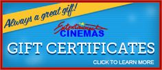 Catch a movie at Entertainment Cinemas on Main Street!