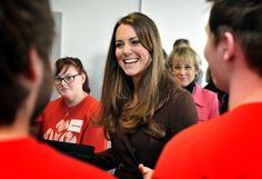 The Duchess of Cambridge carried out a series of engagements in Grimsby, visiting the National Fishing Heritage Center, Humberside Fire and Rescue Center and Havelock Academy 5 Mar 2013