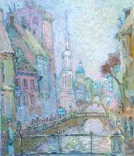 Из серии «Белые ночи Санкт-Петербурга». Мосты. 2003г. Бумага, гуашь. 68х48