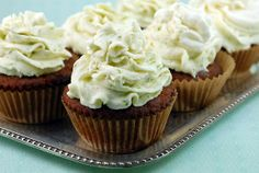 coconut cupcakes with key lime icing- my cupcakes came out a lot lumpier, but still very tasty! Coconut flour cupcakes will be denser than the cupcakes made with regular flour, but they are very moist! Key Lime Frosting Recipes, Key Lime Icing, Cupcake Recipes, Cupcake Cakes, Dessert Recipes, Cup Cakes, Gourmet Cupcakes, Paleo Cupcakes, Icing Recipes
