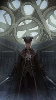 Lady Maria of the Astral Clocktower from Bloodborne. A very cool fight!