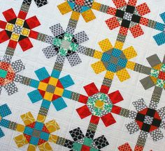 Love this - reminds me of Tinker Toys!  By Red Pepper Quilts