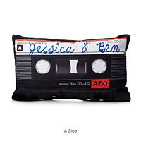 lover to cuddle up with this double sized mixtape pillow personalized with your names or romantic message mix tape pillow gift for new girlfriend