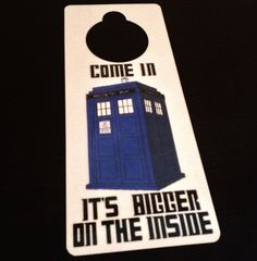 Doctor Who Door Sign Dry Erase Police Box TARDIS Blue The Dr Free Shipping Nerd Geek Decor Not a DVD