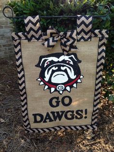 A personal favorite from my Etsy shop https://www.etsy.com/listing/292079513/georgia-bull-dogs-garden-flag