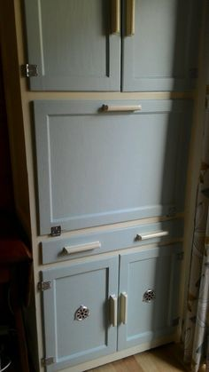 Vintage Nu-Lyne Yellow Retro Kitchen Unit / Cabinet / LARDER ...