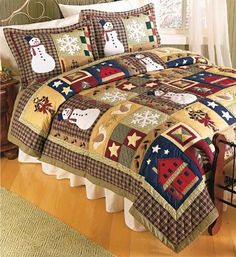 24 Ideas for patchwork christmas tree beautiful Colchas Country, Country Quilts, Christmas Patchwork, Christmas Quilting, Purple Christmas, Coastal Christmas, Snowman Quilt, Christmas Bedding, Winter Quilts