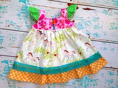 Boutique Wee Wander Custom Dress Flutter.....sz 12m to 7 on Etsy, $49.00