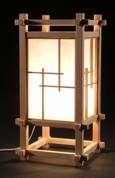 Japanese Lamp - by Greensabbath @ LumberJocks.com ~ woodworking community