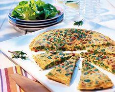 Omelett mit dicken Bohnen