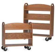 MAR-LINE® Designer Oak Book Trucks-   Also in Cherry