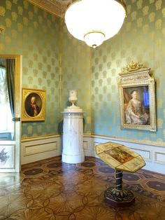 Albertina Palace, Vienna - The Habsburg Staterooms - The Royal writing room epitomises the splendour of the staterooms. The elegant decoration and use of costly materials date from the 1822-25 refurbishment carried out under Archduke Carl.