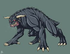 Hellhound [male] (Earth-27) commission by phil-cho on DeviantArt