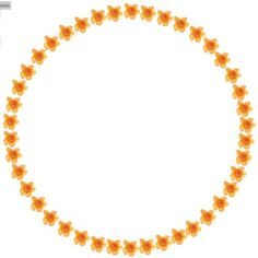 ORANGE FLOWER OUTLINE FOR CIRCLE SETS ❤ liked on Polyvore