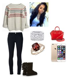"""""""#jessie"""" by foreveryoug ❤ liked on Polyvore featuring UGG Australia, Frame Denim, Blue Nile, Givenchy, women's clothing, women's fashion, women, female, woman and misses"""