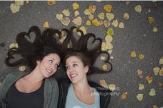 Haley and Hannah with heart hair. Sisters and bff's. Sister Photography, Creative Photography, Children Photography, Photography Poses, Poses For Photos, Picture Poses, Picture Ideas, Photo Ideas, Sister Pictures