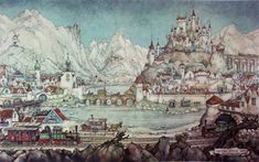 Anton Pieck Castle 1024x640 Artist: Anton Pieck art  Prints Painting Painter Holland Dutch Artist Art Anton Pieck