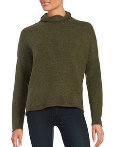 French Connection Mockneck Sweater Women's Green Small