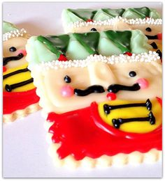 Nutcracker Toy Soldier Sugar Cookies Stocking Stuffer    One dozen 3 cookies.    Sugar Me Desserterie is a fully licensed bakery.    A holiday