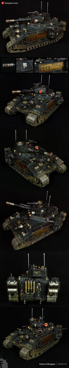 40k - Frotress of Arrogance (Commissar Yarrick personal tank) by fantasygames.com.pl