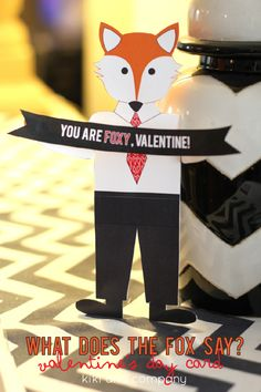 What does the fox say- Valentine edition {free printable}
