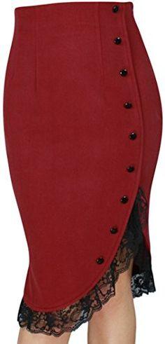 CS -Lacey Tulips- Vintage Style 40s 50s Retro Red Black Lace Ruffle Pencil Skirt (XL) CSDttT http://www.amazon.com/dp/B01110PXZY/ref=cm_sw_r_pi_dp_TgAkwb0EQXC3S