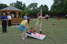 """Games are """"hot"""" for weddings nowadays, like cornhole toss! www.oldgloryranch.com  www.facebook.com/oldgloryranch"""
