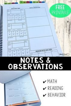Today I'm going to share with you a notebook that I created to help keep all my notes together. This notebook is going to combine 3 notebooks into one. First, It will serve as a spot for me to check the status of my class (what book they are reading). Second, it will store anecdotal notes that I take (reading/math). Third, it will help me keep track of behavior notes that I send home. Those 3 things are BIG. To have them in one notebook will keep me organized and save me time! Below are…