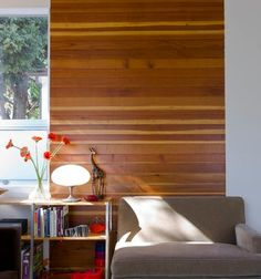 Design Dilemma: How Do I Modernize My Cedar Walls (Actually ours are pine) - Wandbehandlung Cedar Walls, Wood Plank Walls, Wood Paneling, Wall Wood, Cedar Wood, Wood Planks, Wood Flooring, Wood Art, Living Room Modern