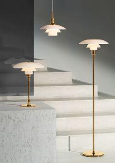 Poul Henningsen Glass Lamps for Louis Poulsen Mid Century Modern Lighting, Danish Design, Lamp Design, Scandinavian Design, Contemporary Furniture, Interior Inspiration, Floor Lamp, Pendant Lighting, Furniture Design