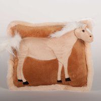 This 13 inch pillow has a plush Palomino horse profile as part of the pillow.